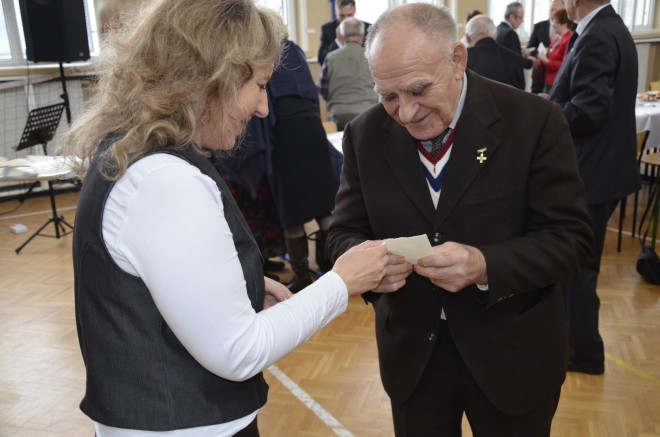 Danuta Gregorowicz w towarzystwie Sybiraka