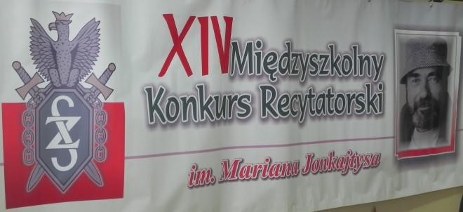 XIV Międzyszkolny Konkurs Recytatorski im. Mariana Jonkajtysa