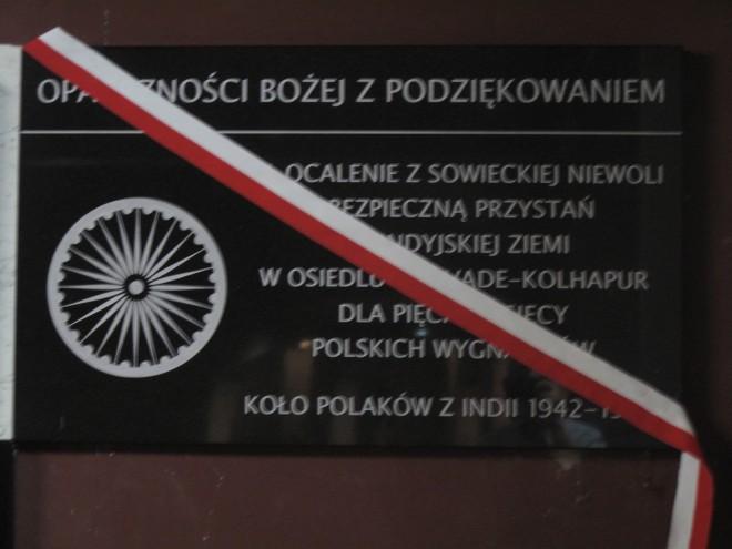 Tablica Koło Polaków z Indii 1942–1948