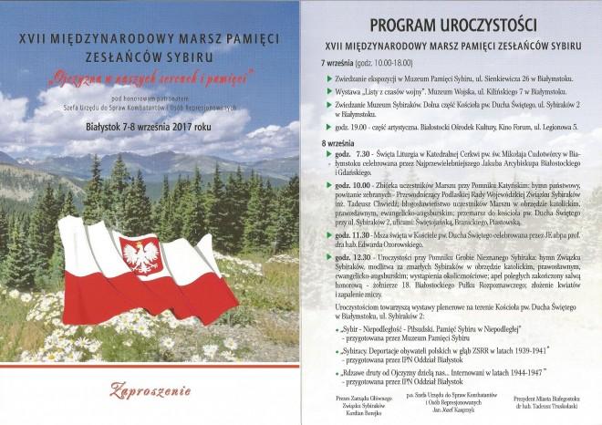 XVII Marsz Pamięci Zesłańców Sybiru