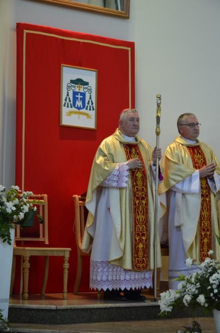 Msza w kościele pw. Świętej Rodziny w Augustowie.