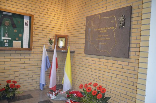 Tablica pamiątkowa w hołdzie zesłańcom na Sybir