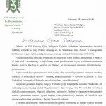 Pismo VIII Krajowego Zjazdu Delegatów do przeora Klasztoru Ojców Paulinów na Jasnej Górze z dnia 28czerwca 2018 r.