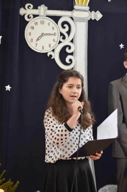 Solistka Monika Chełmińska z klasy I b