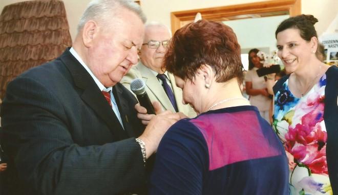 Odznaczenie dyrektor Zofii Bagińskiej