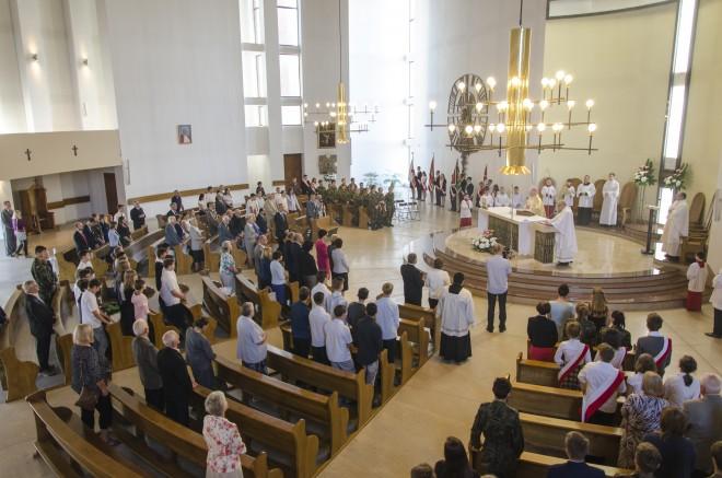 Msza święta w kościele pw. św. Wojciecha Biskupa Męczennika w Lublinie